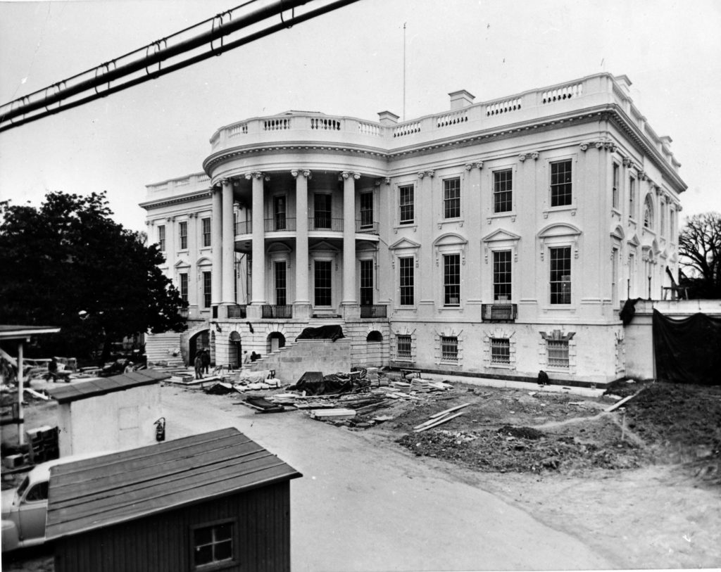 View of the South Portico of the White House